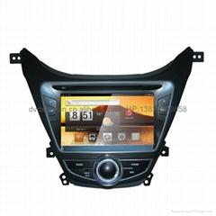 現代伊蘭特 專車專用 8寸車載電腦智能Android2.3系統,WIFI,車載GPS,DVD