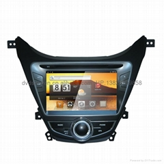 Hyundai elantra eight inches of intelligent Android2.3, car GPS, WIFI, DVD,PC