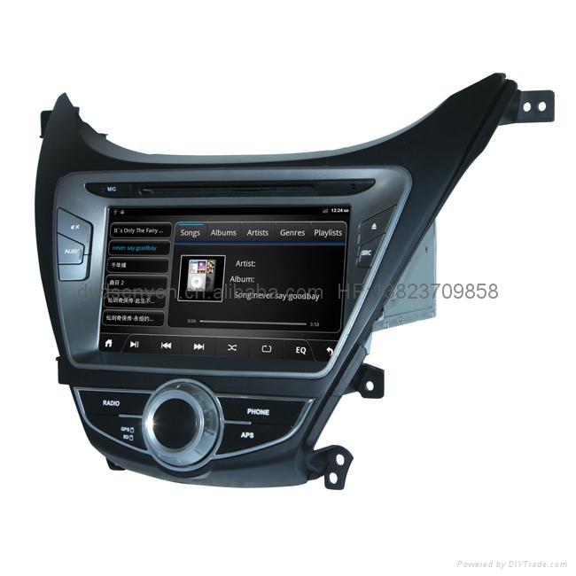 现代伊兰特 专车专用 8寸车载电脑智能Android2.3系统,WIFI,车载GPS,DVD 3