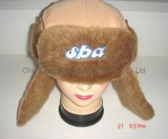 Winter Taslon with Faux Fur Earflaps Gorros Hats