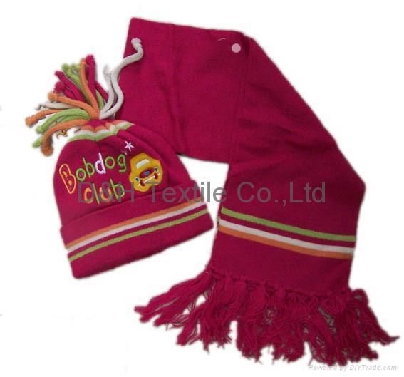 professional Knitted crochet hat warm glove scarf beanie 10