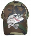 Camouflage regular baseball cap with embroidery 4