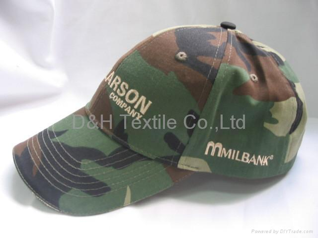 Camouflage regular baseball cap with embroidery 5