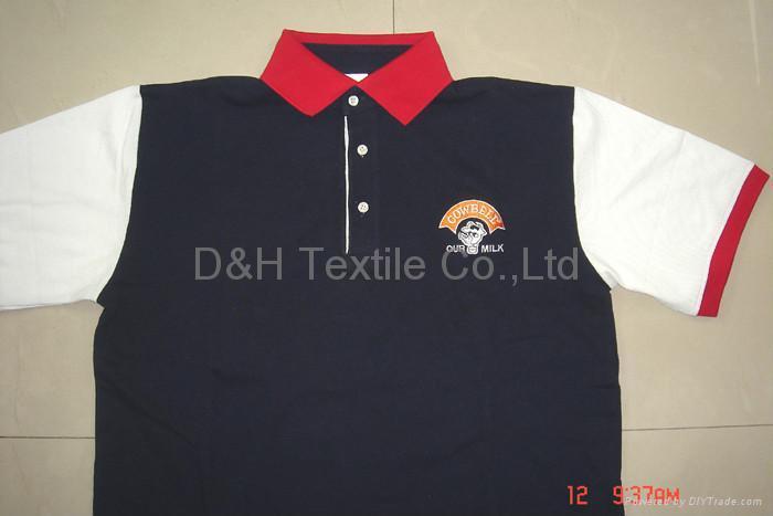 High quality cotton jersey Polo-shirt/Tshirt 2