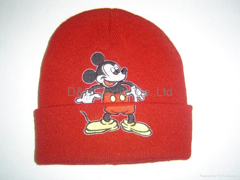 Quality Jacquard Knitted Hat with Ear Flaps &Poms 10