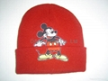 Quality Jacquard Knitted Hat with Ear Flaps &Poms