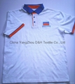 100% cotton jersey Polo Shirt with piping