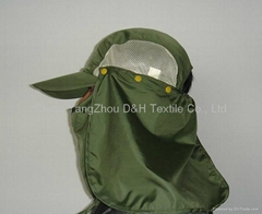 Shawl cap/Ear flap Hats With button