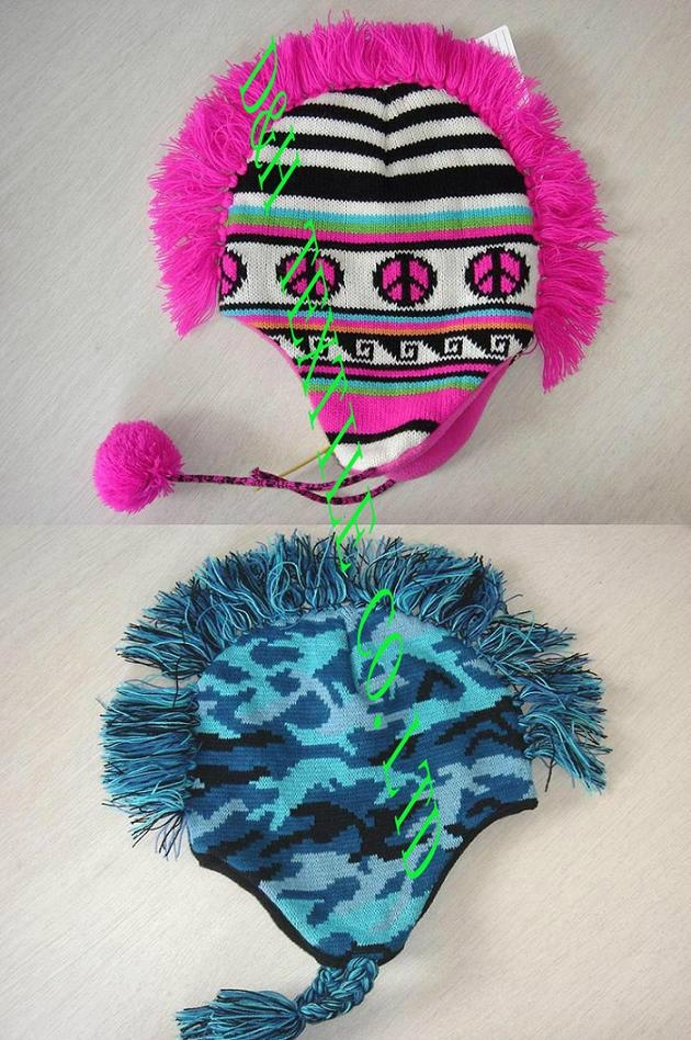 Cockscomb beanie/Reversible Knitted Hat 1