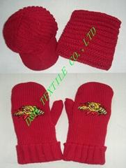 Thick Knitted Gague Crochet 3piece Set