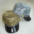 Vogue Leopard Military PU Cap/Painter cap