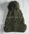 Fashion Ladies' Knitted Hat with Pompom/Crochet Hats  5