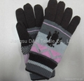 Acrylic knitted winter glove