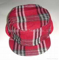 Felt Plaid Winter cap/Warm cap