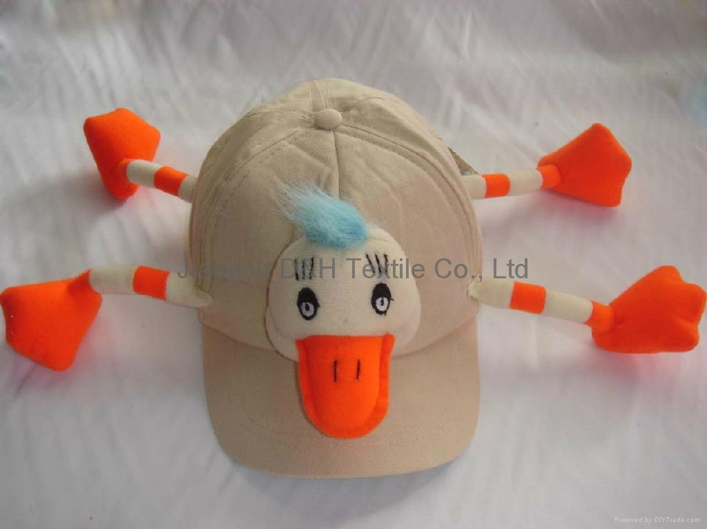 Toys For Caps : Duck plush toy with cotton cap dh sc china