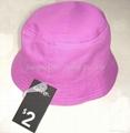 Red Plain Basic Cotton Bucket hat/Sun