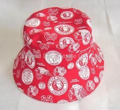 Floral Cotton Bucket Sun hats