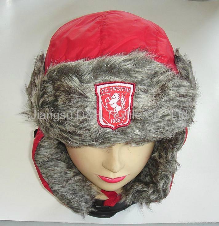 Micro fiber With Faux Fur Earflap Hat
