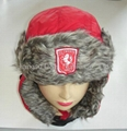 Micro fiber With Faux Fur Earflap Hat