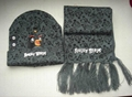 professional Knitted crochet hat warm glove scarf beanie