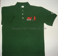 Customized 250gsm Cotton Pique Mesh Work wear Work Uniform Cloth polo shirt