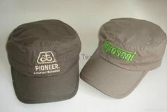 Cotton plaid painter caps