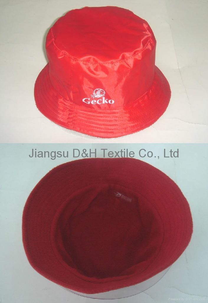 9327ca17460 Waterproof Fabric Sun Hat Bucket Hat With Polar Fleece lining - DH ...