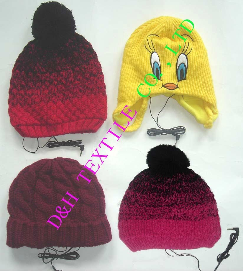 Beanie/Knitted Hat with Ear Phone
