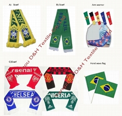 Brazil Football Fans Scarf/Soccer Accessories/Fans Scarf