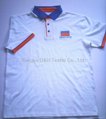 Cotton Pique Mesh Polo shirt