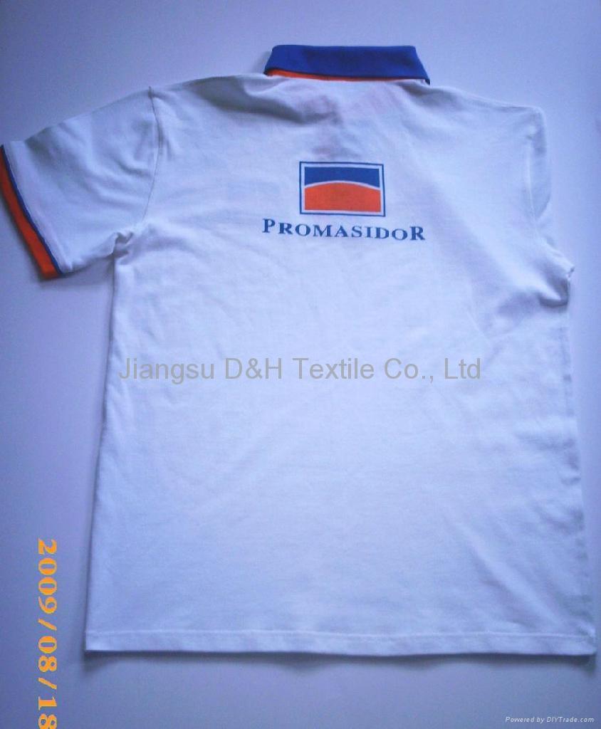 Cotton Pique Mesh Polo shirt 2