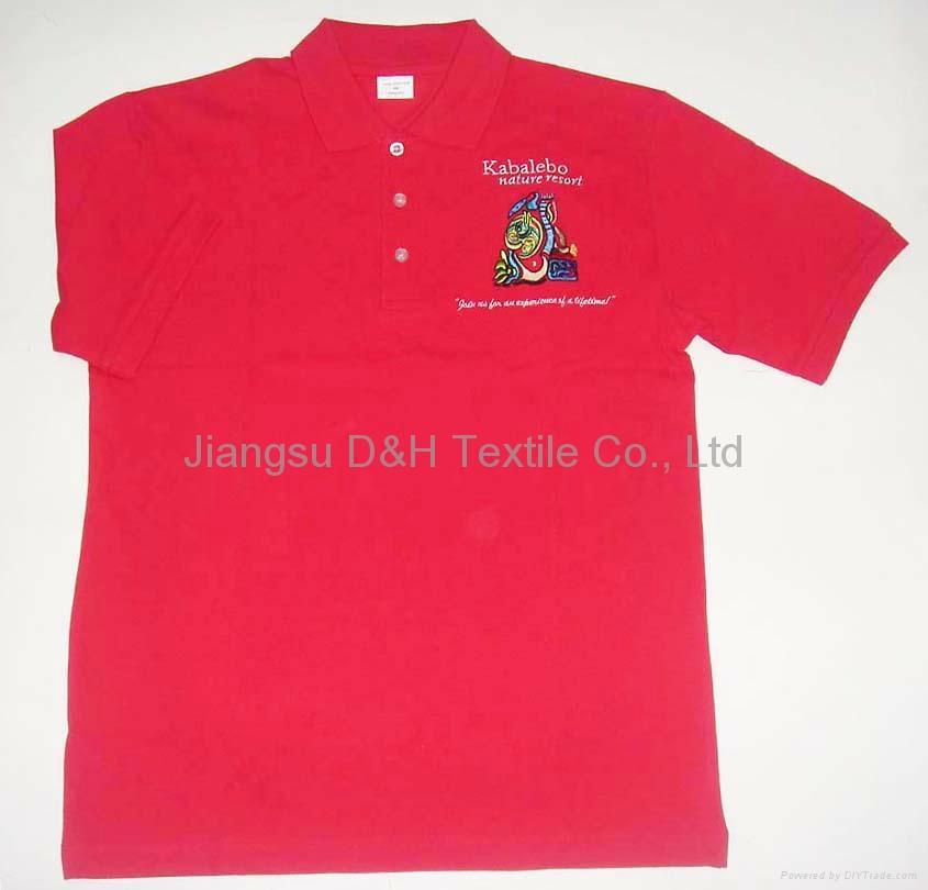 High Quality Cotton Pique Mesh Polo Shirt/Tshirt work cloth 1