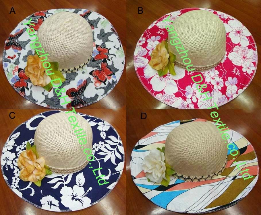 Print Fashion Ribbon Straw Hat/Large Brim Women Beach Hat 1