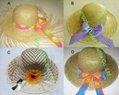 Printing Ribbon Straw Hat/Hot Summer Straw Hat / Weave Hat 1