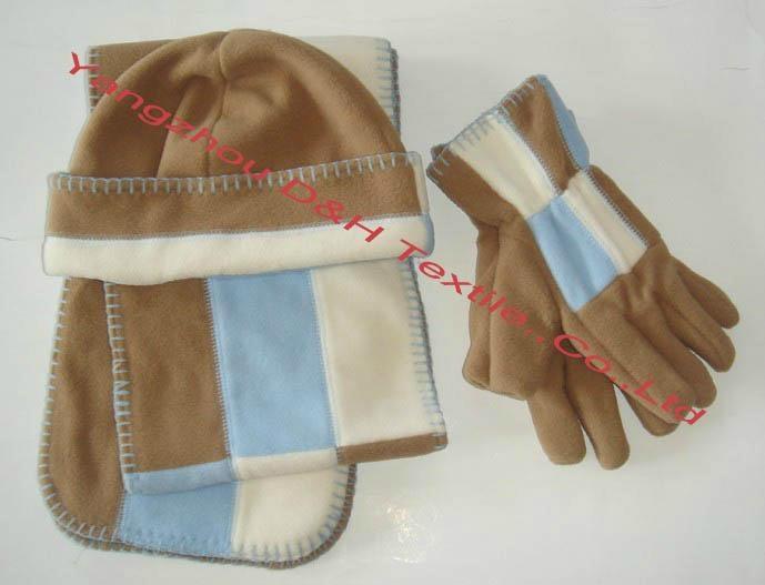 Polar fleece cap/Anti-pilling Polar Fleece Set/Warm Set 2