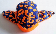 Winter Plaid Trooper Hat /Fashion fabric With Faux Fur Earflap Warm Hat