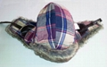 Winter Plaid Trooper Hat /Fashion fabric With Faux Fur Earflap Warm Hat