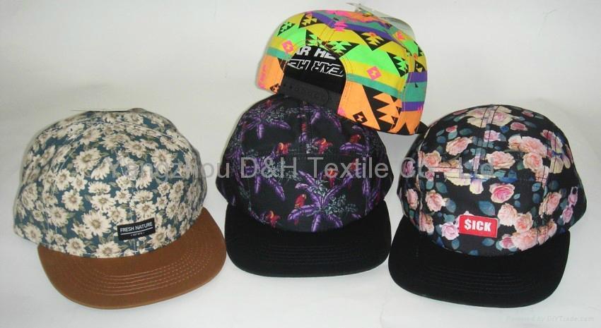 Fashion Design Custom Flat Brim Snapback Cap 1