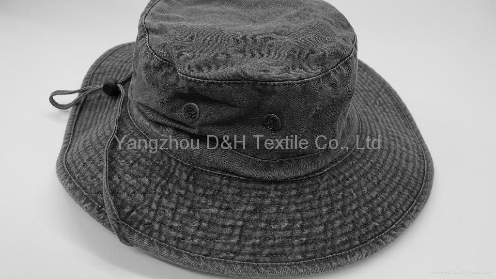HOT Big Brim Pigment Washed Hat 1