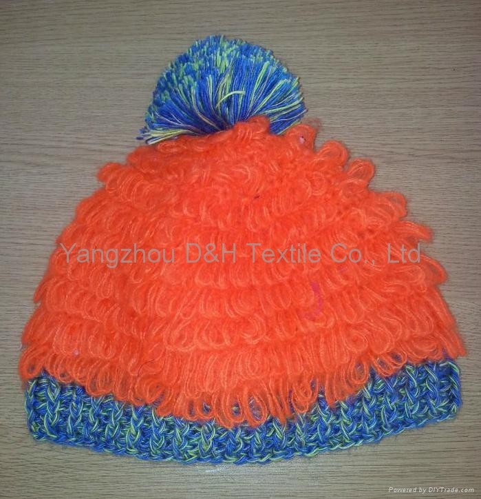 Crochet knitted hat with good quality 6