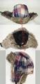 Winter Plaid Trooper Hat /Micro Fiber With Faux Fur Earflap Warm Hat 2
