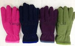 Polar Fleece Glove/Anti-pilling Polar Fleece set