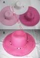 Customized Ribbton Fedora Straw Hat