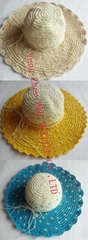 Fashional Multicolor Paper Straw Wide Brim Hat (DH-LH9125)