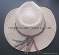 Promotion Straw Boater Hat Custom Straw Hat Wholesale (DH-LH9126)