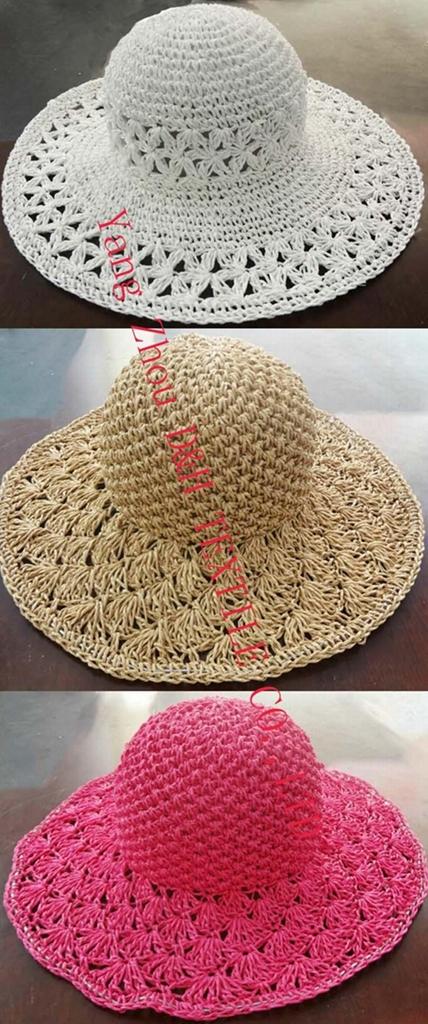 Elegant Lady Straw Hat Straw (DH-LH9119) 1