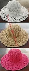 Elegant Lady Straw Hat Straw (DH-LH9119)