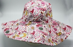 Fashional Canves Cotton Sun Hat (DH-BF345)