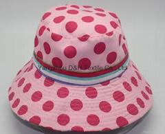 Fashional Lady Cotton Printing Sun Hat (DH-BF383)