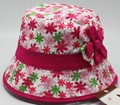 Lady Floral Cotton Bucket Sunhat